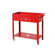 Metal Grow Trolley Roja